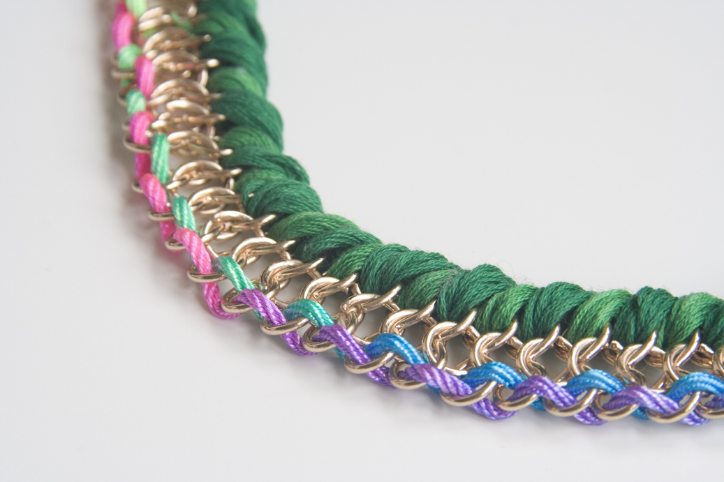 5a362cadf0cc Collares cadena e hilo trenzado